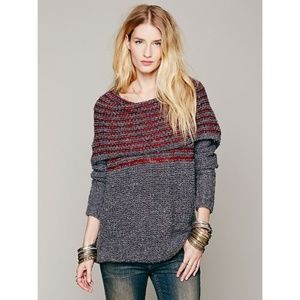 Free People Engineer Cowl Neck Pullover Sweater